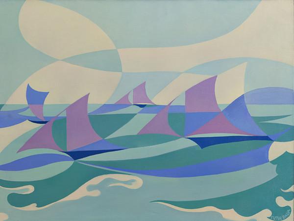 Giacomo Balla, <em>Linee - forza di mare</em>, 1919, Olio su tela, 100 x 70 cm, Palazzo Ricci, Fondazione Cassa di Risparmio di Macerata