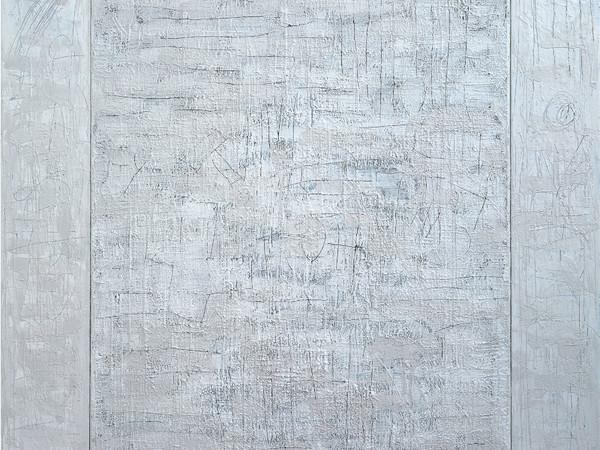 Cesare Berlingeri, Cera bianca e ferro, 1980. Cera su ferro, legno e tela, cm. 186x160,5