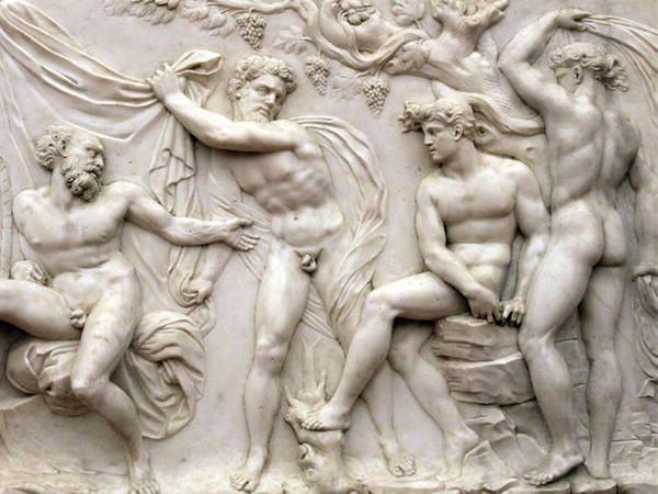 Baccio Bandinelli, L'ebbrezza di Noè (particolare), marmo. Firenze, Museo Nazionale del Bargello