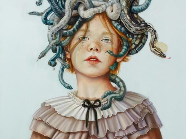 Claudia Giraudo, Medusa, 2019, olio su tela. 60×60 cm.