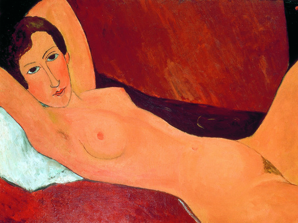 Amedeo Modigliani, Grande nudo disteso (Ritratto di Celine Howard), 1918 circa, Olio su tela, 100 x 65 cm, Svizzera, Collezione privata | Courtesy of Palazzo Ducale, Genova 2017