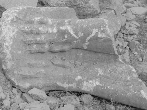 Ryts Monet, Frammento di Lamassu a Nimrud