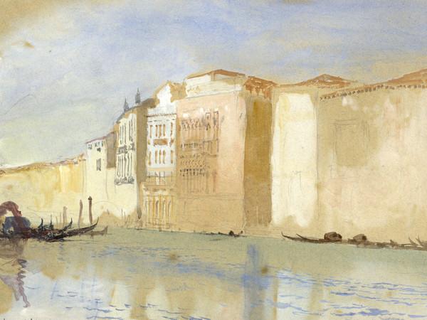 John Ruskin, <em>Venezia, Diga Marittima</em>, Matita e acquerello su carta, 491 x 298 mm, Ruskin Foundation (Ruskin Library, Lancaster University), Lancaster