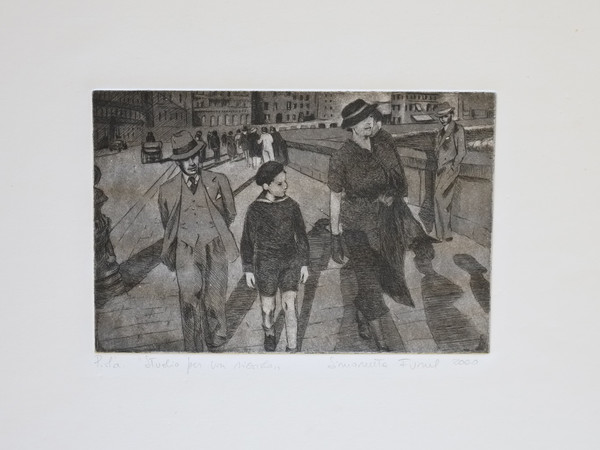 Simonetta Funel, Studio per un ricordo, 2000, acquaforte e puntasecca, cm. 16,5x24,5