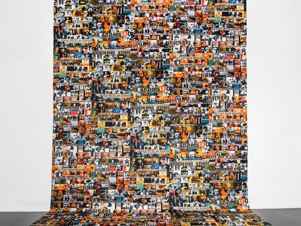 Nanni Balestrini, Anni '70, Anni '80, tela emulsionata, cm. 700x500