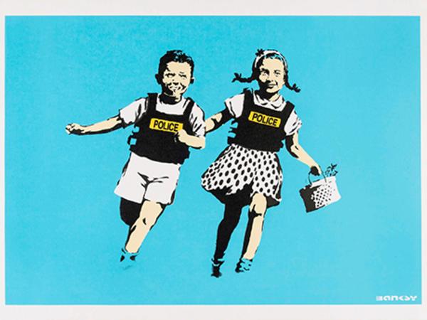 Banksy, Jack & Jill, 2005, serigrafia su carta. Collezione privata