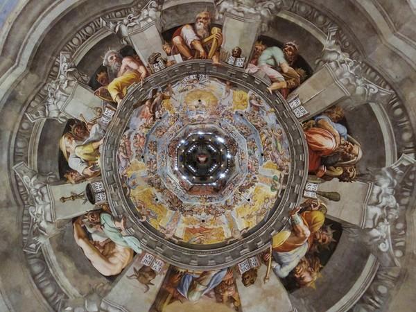 Massimo Sestini, Immagine zenitale dall'interno della cupola del Brunelleschi, Duomo di Firenze