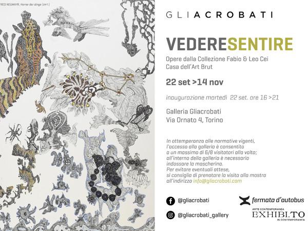 Vedere Sentire. Opere dalla collezione Fabio & Leo Cei - Casa dell'Art Brut, Galleria Gliacrobati, Torino