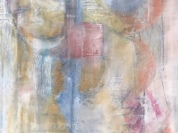 Nadia Nespoli, Preghiera, 2017, tecnica mista su tela, 90 x 80 cm.