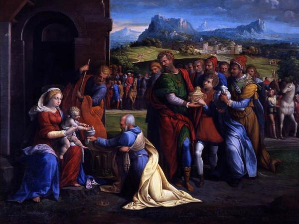 Garofalo (Benvenuto Tisi), L'Adorazione dei Magi. Olio su tavola, cm 61x71. Roma, Musei Capitolini, Pinacoteca Capitolina