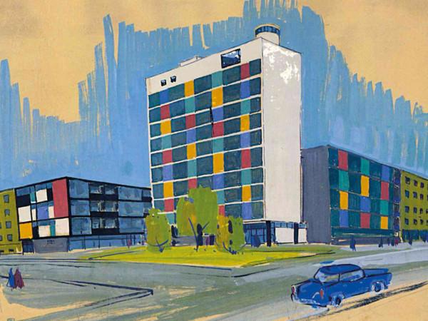 Ivo Vitić, Edificio Laginjine, Zagabria. Prospettiva di studio, 1962