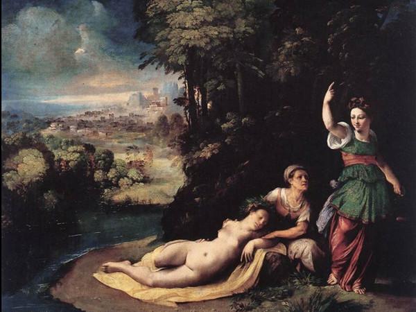 Dosso Dossi (1490 ca.-1542), Diana e Callisto, 1529-1530, Olio su tela. Galleria Borghese, Roma