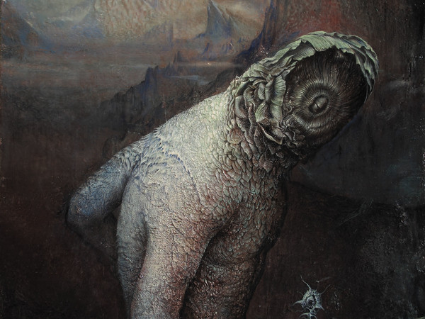 Agostino Arrivabene, Coninctio (diptico), 2016-2017, olio su legno, cm 60x50