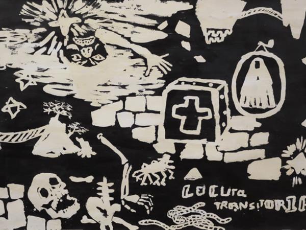 Cristina Lama, Locura Transitoria, tecnica mista su carta, 72x102 cm.
