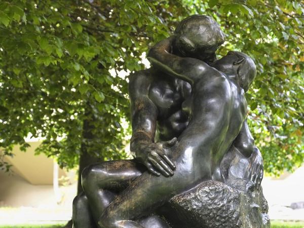 Il Bacio di Rodin, riproduzione in bronzo. Fondazione Gianadda Martigny