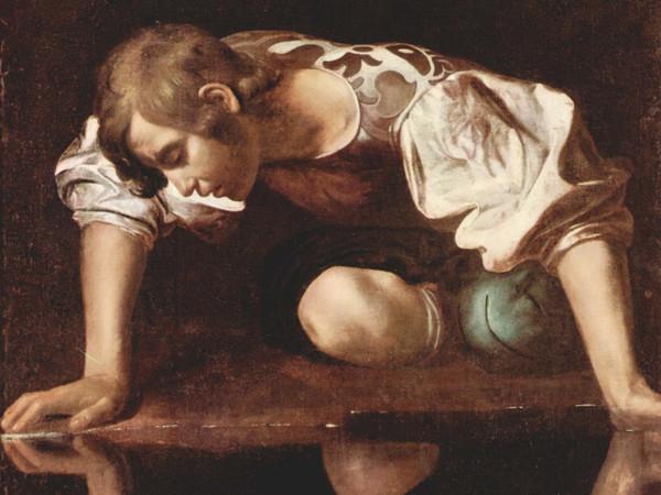 Michelangelo Merisi da Caravaggio, <em>Narciso alla fonte</em>, 1597-1599, Olio su tela, 92 x 112 cm, Galleria Nazionale d'Arte Antica, Palazzo Barberini, Roma