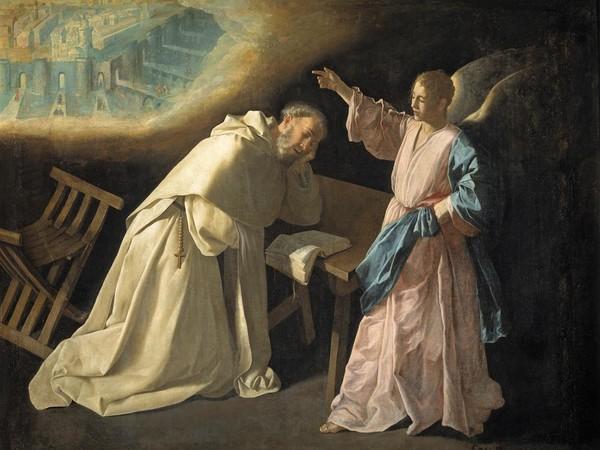 Francisco de Zurbarán, La visione di San Pietro Nolasco, 1629, olio su tela, cm 179x223, Madrid, Museo Nacional del Prado