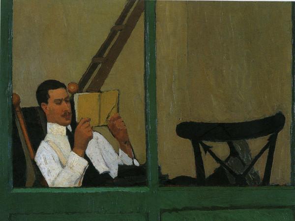 Oscar Ghiglia, Gustavo Sforni in veranda che legge, 1913, Antica collezione Gustavo Sforni | Photo by Antonio Quattrone / Courtesy of Dart - Chiostro del Bramante e Arthemisia Group 2016