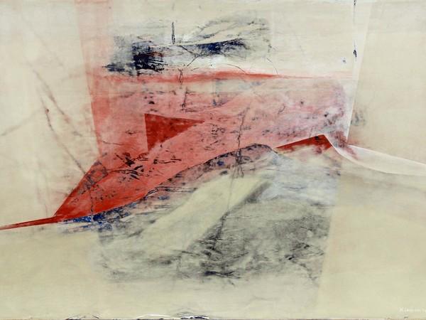 Mario Lanzione, Sulla soglia del visibile, 1983, veline e acrilici su tavola, cm. 70x100