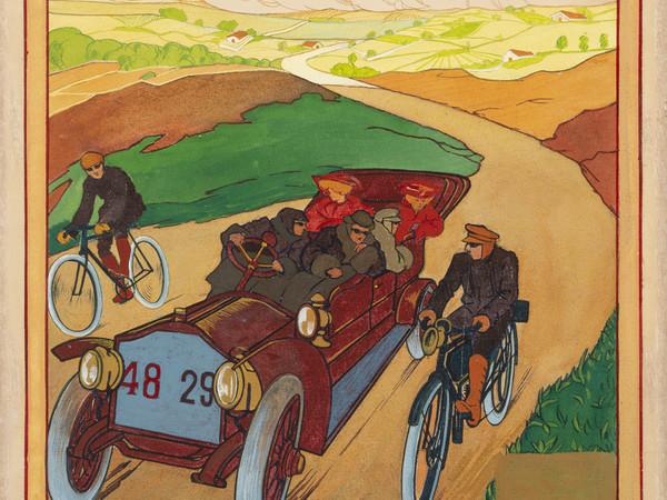 Umberto Boccioni, <em>Automobile 48 29</em>, 1907-1908. Tempera su cartoncino I Collezione privata