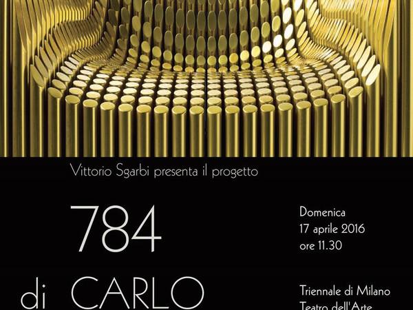 Carlo Colombo. Sculpture armchair 784, Triennale di Milano