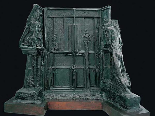 Augusto Perez, La notte (Edipo e la Sfinge), bronzo, cm. 350x134xh274