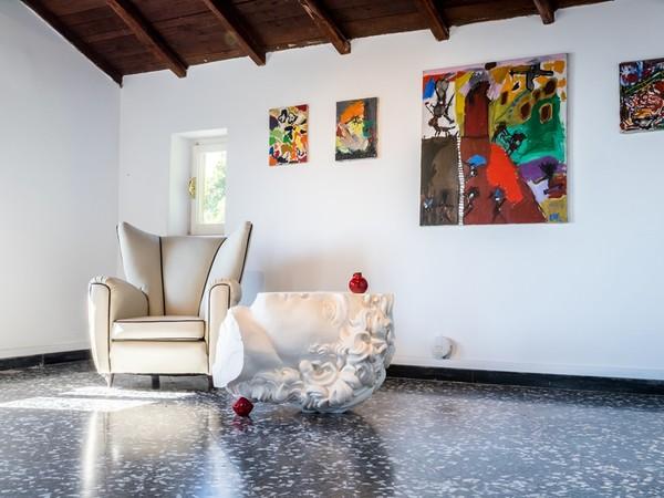 Andrea Salvatori, MetaDavid, 2016, ceramica, cm. 65,5x83x69. Installation view. Casa Museo Jorn, Albissola I Ph. Omar Tonella