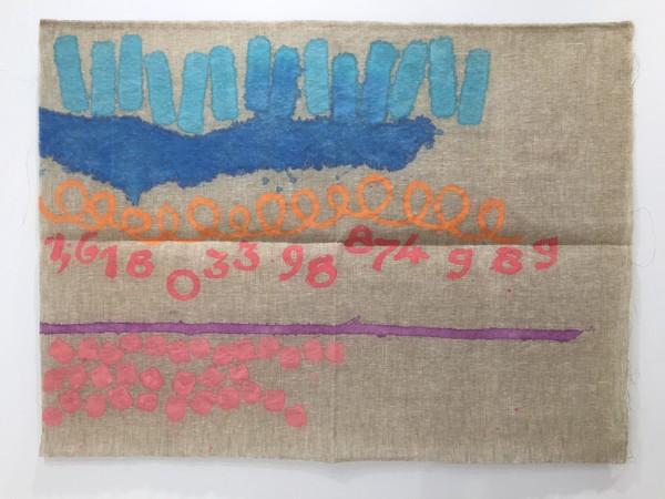 Giorgio Griffa, Sezione Aurea n°989, 2010, acrilico su tela, cm. 100x135
