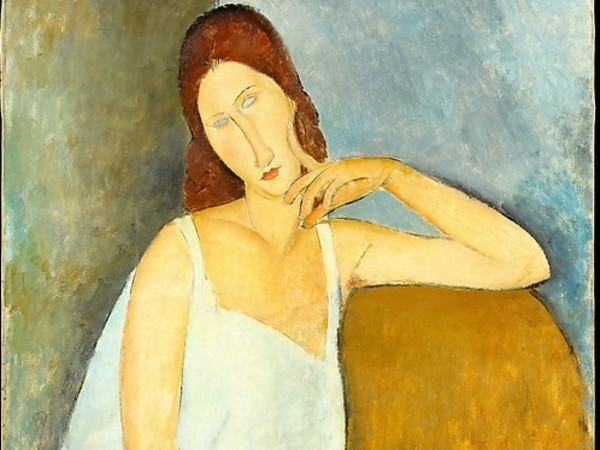 Amedeo Modigliani, <em>Jeanne H&egrave;buterne</em>, 1919, Olio su tela, 73 x 91.4 cm, Metropolitan Museum of Art, New York | &copy; Gift of Mr. and Mrs. Nate B. Spingold, 1956<br />