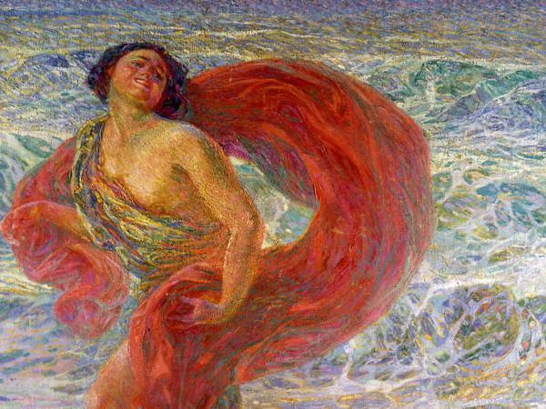 Plinio Nomellini, Isadora Duncan. Gioia (Gioia tirrena), 1914 (dettaglio), Quadreria Villa San Martino. Collezione Silvio Berlusconi