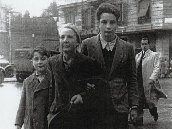 Mimì Quilici Buzzacchi, <em>Arrivo a Roma, 1945, con Folco e Vieri</em>
