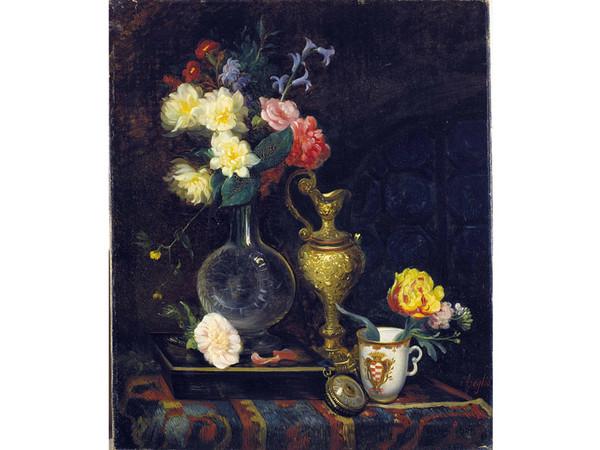 Massimo d'Azeglio, Natura morta con fiori e oggetti, 1843 ca, GAM, Torino