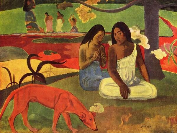 Paul Gauguin, Arearea (Giocosità), 1892, olio su tela, 75×94 cm.. Museo d'Orsay, Parigi