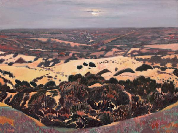Wang Keju, <em>La brezza serale del vasto deserto</em>, 2011, Olio su tela, 160 x 140 cm