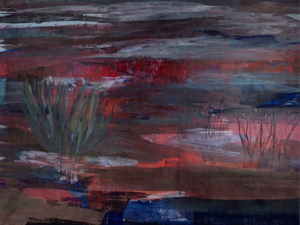 Mutaz Elemam, Dream scape from river Untitle, 2018. Acrilic on canvas, cm. 96x120