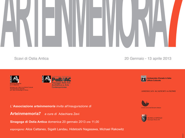 ARTE IN MEMORIA 7. Mostra Internazionale di Arte Contemporanea