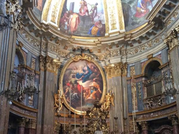 Pala d'altare con la Madonna e i Santi titolari