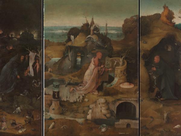 Jheronimus Bosch, Trittico degli Eremiti, ca. 1495-1505. Venezia, Gallerie dell'Accademia