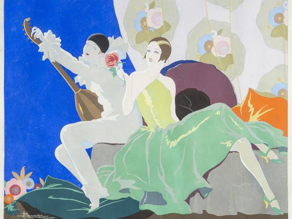 Adolfo Busi, Donna con Pierrot suonatore di mandola