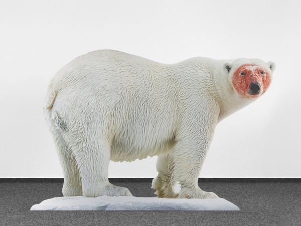 Katja Novitskova, Approximation (Polar Bear), 2017, Digital print on aluminum, cutout display, acrylic glass, 148 x 226 x 38 cm, Collezione Sandretto Re Rebaudengo