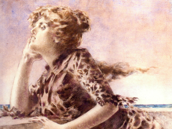 Luigi Conconi, <em>Marina, Sinestesia evocativa del mare</em>, 1886, Tempera e acquarello su cartone, 47 x 53 cm, Collezione privata