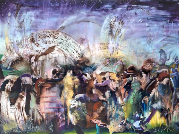 Ali Banisadr, Underworld, 2021, olio su lino