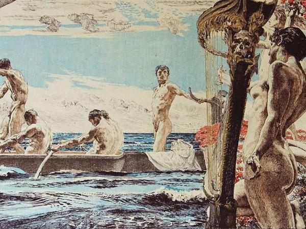 Otto Greiner, Ulisse e le sirene, 1896