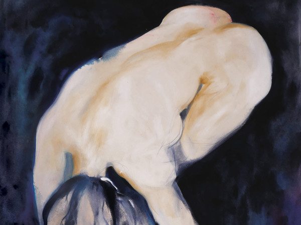 Noel Emilia Gazzano, <em>E Sulla Pelle, Asfodeli</em> (Particolare), 2018, Tecnica mista su tela, 100 x 170 cm