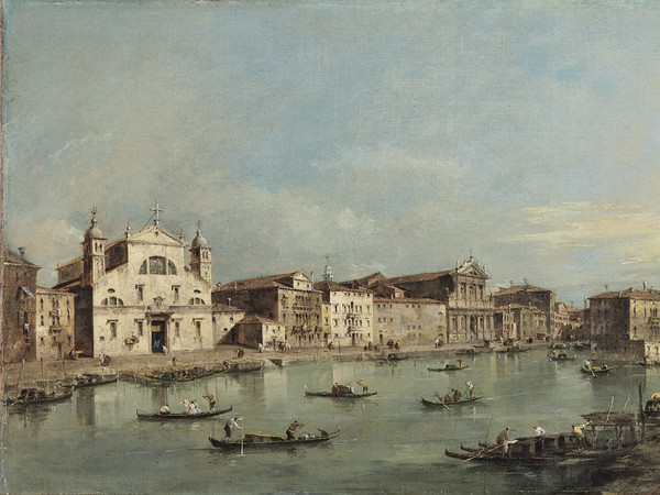 Francesco Guardi, Il Canal Grande con Santa Lucia e Santa Maria di Nazareth, Olio su tela, 78 x 48, Madrid, Museo Thyssen-Bornemisza
