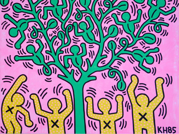 Keith Haring, <em>Tree of Life</em>, 1985, Collezione privata | Courtesy of Keith Haring Foundation