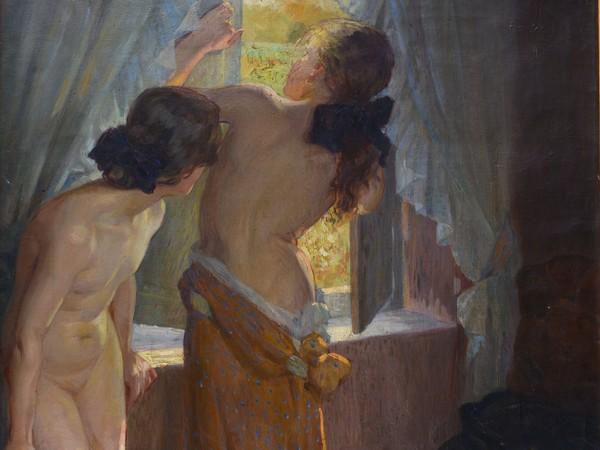Virginia Tomescu Scrocco, Giochi di bambine, 1913-1915, Olio su tela Roma, Galleria d'Arte Moderna | Courtesy of Galleria d'Arte Moderna, Roma