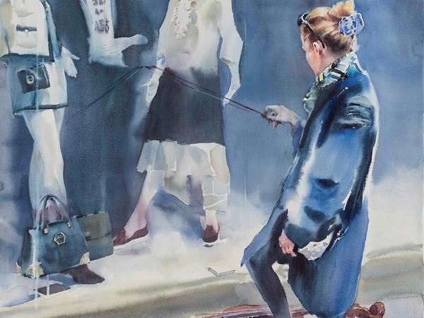 Andrey Esionov, Voce assoluta, 2018. Сarta, acquerello, 110 ×70 cm.