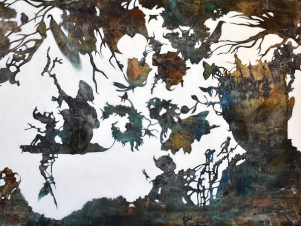 Miriam Pace, Quadro bianco, olio su tela , 80x100 cm., 2017