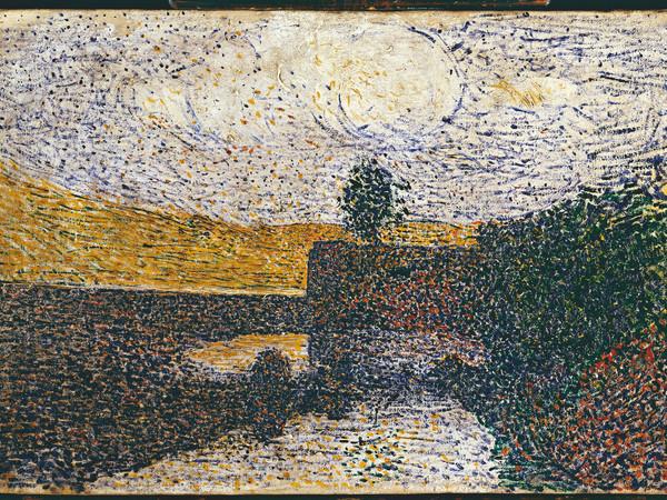 Giuseppe Pellizza da Volpedo, Il ponte, olio su tela, 26,5x39,2 cm.